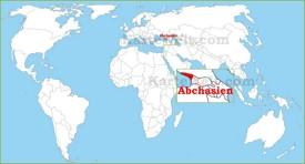 Abchasien auf der Weltkarte