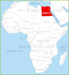 Ägypten auf der karte Afrikas