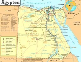 Politische karte von Ägypten