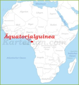 Äquatorialguinea auf der karte Afrikas