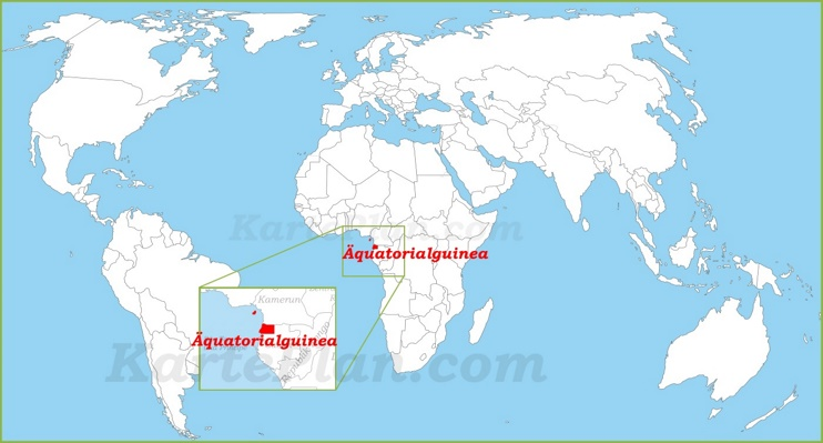 Äquatorialguinea auf der Weltkarte