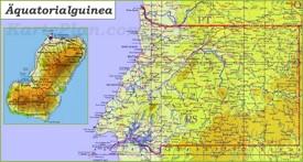 Große detaillierte karte von Äquatorialguinea