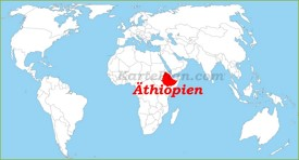Äthiopien auf der Weltkarte
