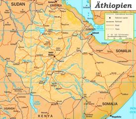 Äthiopien Straßenkarte
