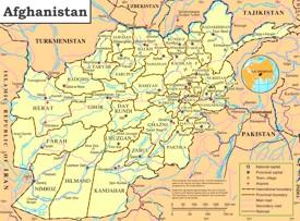 Politische karte von Afghanistan