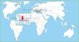 Albanien auf der Weltkarte