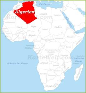 Algerien auf der karte Afrikas