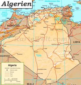 Algerien Straßenkarte