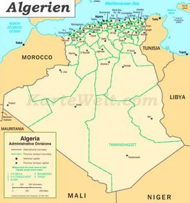 Verwaltungskarte von Algerien