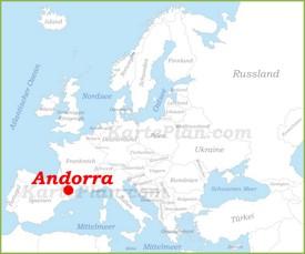 Andorra auf der karte Europas