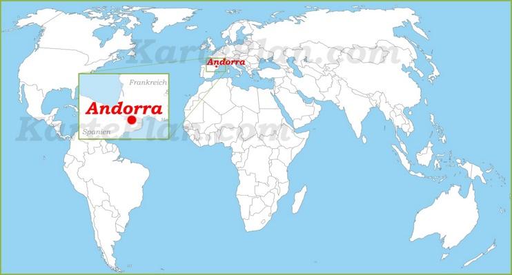Andorra auf der Weltkarte