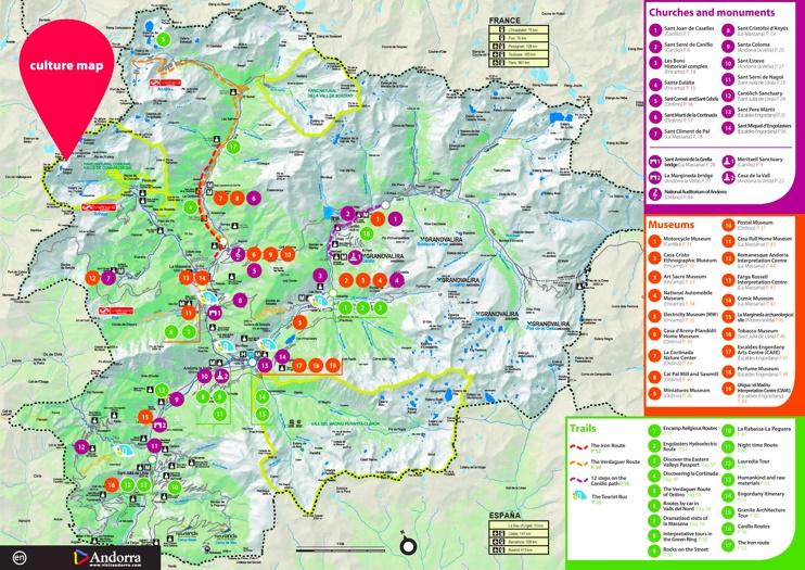 Andorra sehenswürdigkeiten karte
