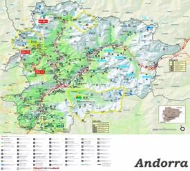 Große touristische karte von Andorra