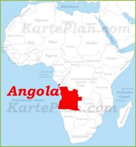 Angola auf der karte Afrikas