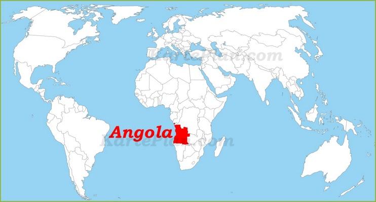 Angola auf der Weltkarte