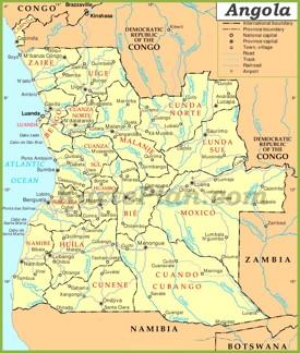 Angola Straßenkarte