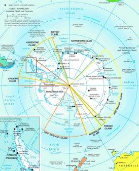 Antarktika politische karte