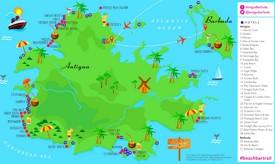 Antigua und Barbuda hotel karte