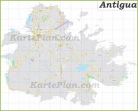 Große detaillierte karte von Antigua
