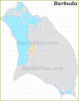 Große detaillierte karte von Barbuda