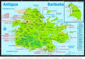 Touristische karte von Antigua und Barbuda