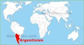 Argentinien auf der Weltkarte