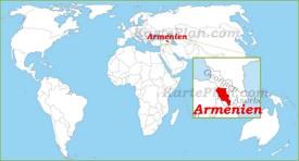 Armenien auf der Weltkarte