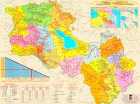 Große detaillierte karte von Armenien und Bergkarabach