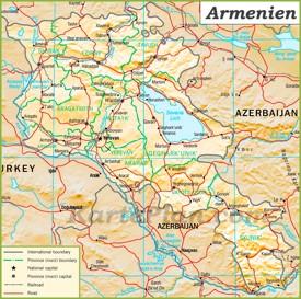 Politische karte von Armenien