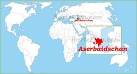 Aserbaidschan auf der Weltkarte