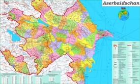 Große detaillierte karte von Aserbaidschan