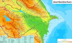 Physische landkarte von Aserbaidschan