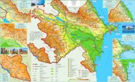 Touristische karte von Aserbaidschan