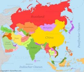 Landkarte Asien.Asien Karte Landkarten Von Asien