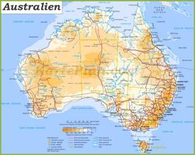 Australien Straßenkarte