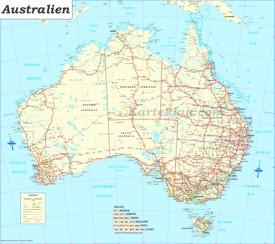 Große detaillierte karte von Australien