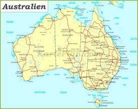 Verwaltungskarte von Australien