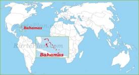 Bahamas auf der Weltkarte