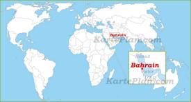 Bahrain auf der Weltkarte