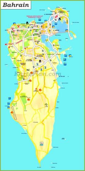 Touristische karte von Bahrain