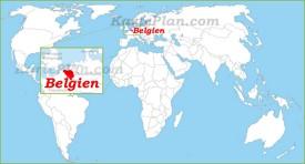 Belgien auf der Weltkarte