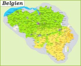 Große detaillierte karte von Belgien