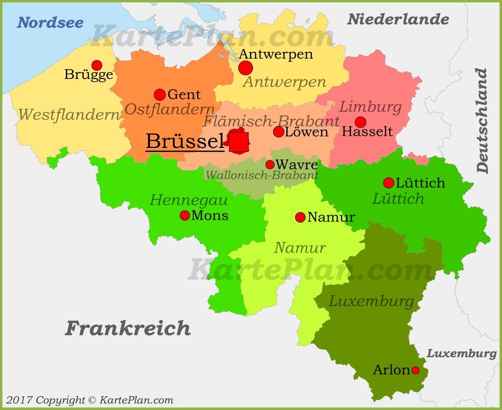 karte belgien Politische karte von Belgien