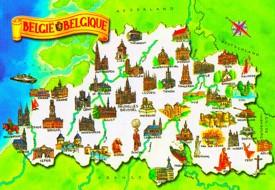 Touristische karte von Belgien