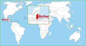 Belize auf der Weltkarte