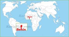 Benin auf der Weltkarte