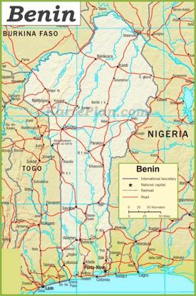 Benin Straßenkarte