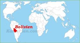 Bolivien auf der Weltkarte