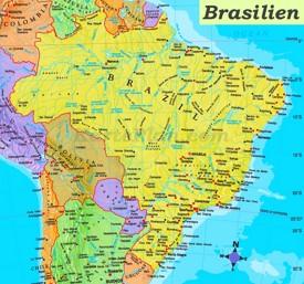 Brasilien politische karte