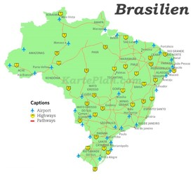 Brasilien Straßenkarte